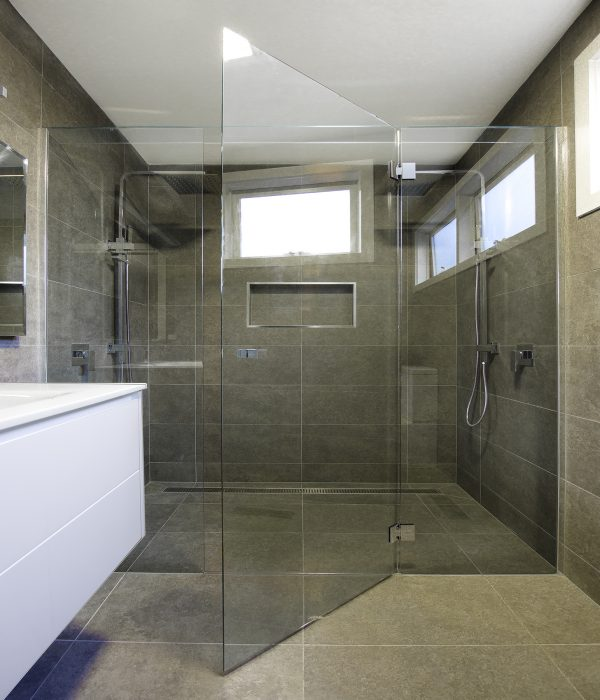 Frameless Hinged Showerscreen