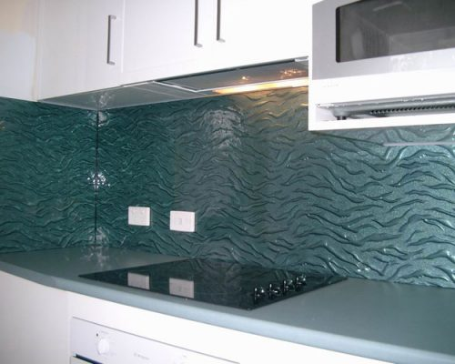 Patterned Glass Splashback
