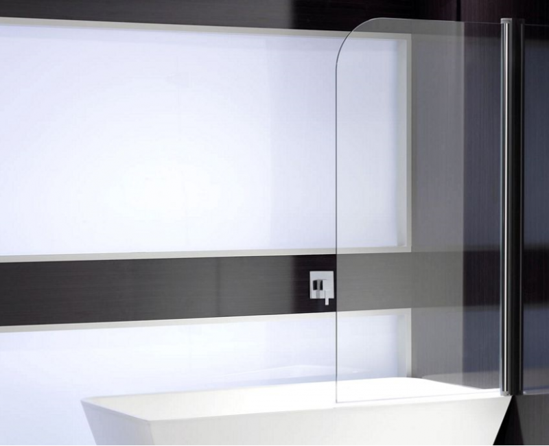 Round Bathscreen Single Panel