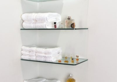 Custom made glass shelving and fittings